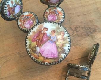 Limoges French Porcelain Miniature Bistro Set