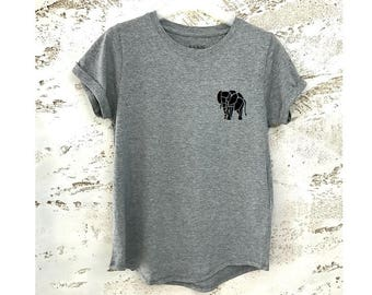 Elephant T-Shirt, Animal Shirt, Elephant Shirt, Animal T-Shirt, Elephant Tee, Womens Shirt, Animal Tee, Minimalist T-Shirt