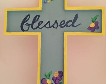 Blessed Wooden Wall Cross
