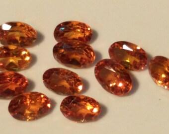 Hessonite garnet gem natural  4x6 mm Natural Hessonite loose gemstone ST0053HE