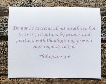 Philippians 4:6 Bible Verse Note Card