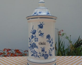 Apothecary jar - jar - 60s - apothecary jar made in France
