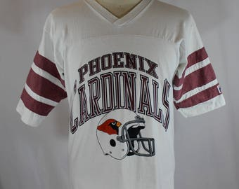 Vintage 80s Phoenix Cardinals T-Shirt // Logo 7  // Men's M Made in USA