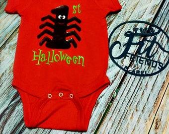 1st First Halloween Bodysuit One Piece Baby Romper Creeper Newborn Girls Baby Shower Gift Baby Boy Spider
