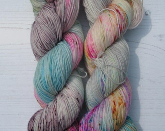 """4 Ply """"Industrial Music"""" hand dyed sock yarn."""