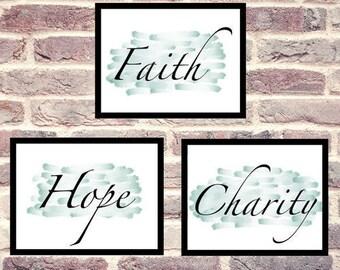 Faith, Hope & Charity Printable Artwork