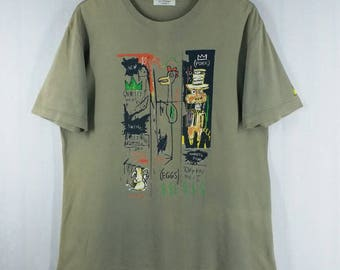 Jean Michel Basquiat// Pop Art Graffiti// Basquiat Arts// Gray Color// Size L