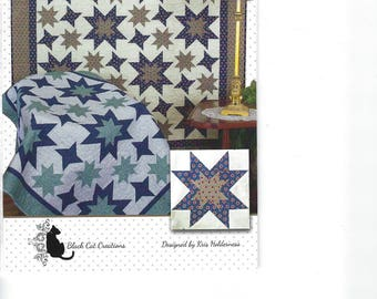 Jumping Stars Quilt Pattern by Black Cat Creations