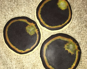 Total Solar Eclipse Decorated Cookies