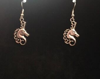 Unicorn Head Dangle Earrings