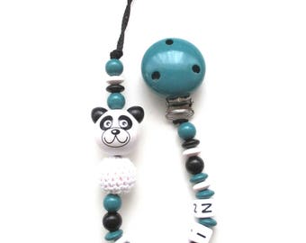 Pacifier pattern g wooden beads