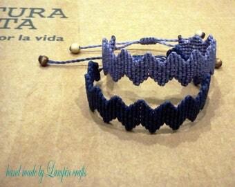 Zig Zag macrame bracelet