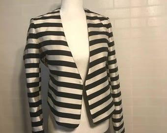 Fitted Striped Blazer