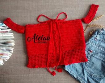 Crop top crochet Crochet fabric
