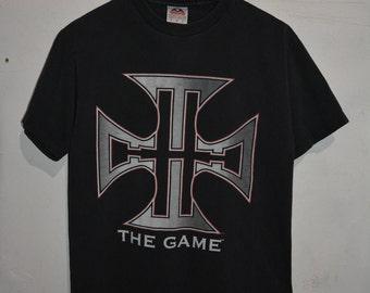 Vintage Triple H Wrestling Shirt Mens L Black WWF WWE 2002 VTG