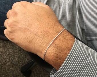 Light Blue Bracelet Mens Silk Bracelet Delicate Bracelet Thin Blue Bracelet Sky Blue Bracelet Baby Blue Bracelet Guy Bracelet Guy Jewelry