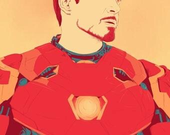 Tony Stark / Iron Man - A6 / Postcard Print