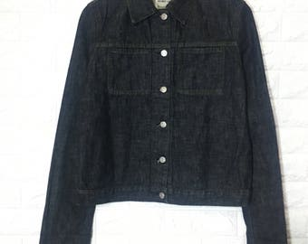 20%OFF Vintage Helmut Lang Slim 2 Pocket Turn Up Classic Denim jacket clothing men women jacket out wear size s