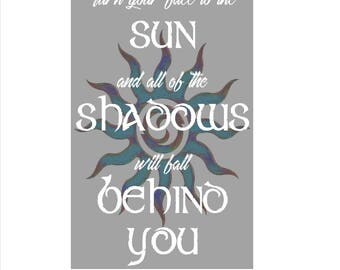 SUN TRIBAL GICLEe Quote WALL ARt, Instant download, Wall DECOr, best sellers, Wall Print, digital art, printable, most popular, artwork