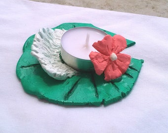 Lily Pad Tealight Candle Holder