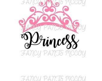 Princess with crown SVG