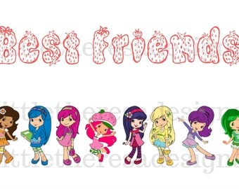 Strawberry Shortcake Best Friends Transfer,Digital Transfer,Digital Iron Ons,Diy