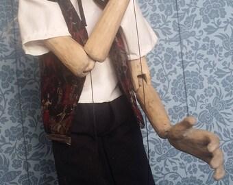 Handmade wooden marionette