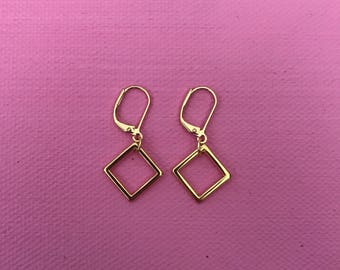 Be Square Gold earrings