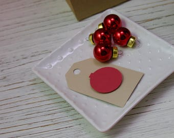 Christmas Gift Tag - Set of 10 - Gift Tag - Gift Wrapping - Ornament - Red - Holiday Gift Tag - Tag - Present
