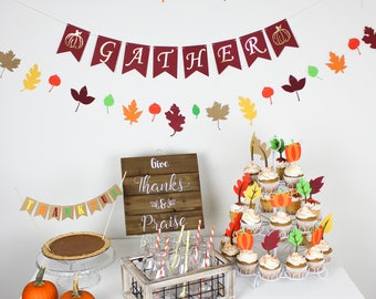 Leaf garland/ fall garland/ thanksgiving garland/ thanksgiving decor