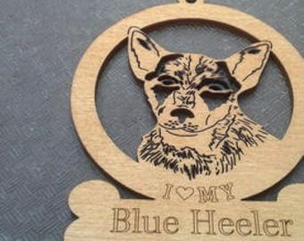 Blue Heeler Dog Ornament