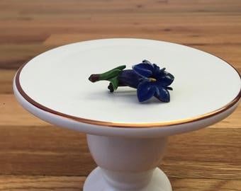 Vintage Violet Flower Brooch