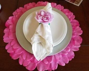 Pink Rose Napkin Rings