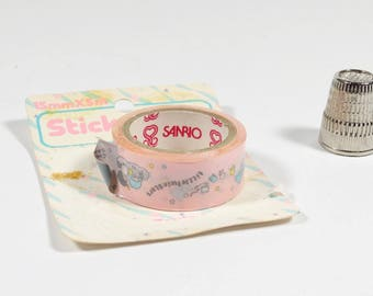 1976 Sanrio Little Twin Stars Sticky Tape - Animé 1970s Sanrio