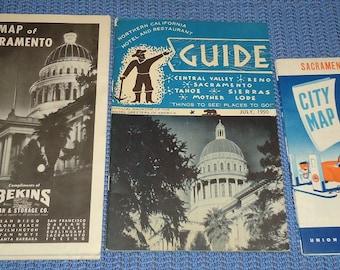 Vintage Sacramento Memorabilia, Vintage Sacramento California Souvenirs, Brett Harte Inn, Vintage Grass Valley California Memorabilia
