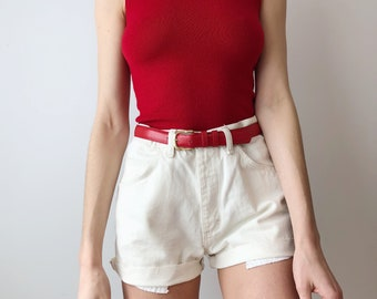 Red Knit Tank