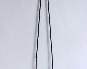 large black medallion necklace