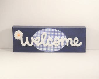 Welcome - One of our top sellers that we can create in any color combo!