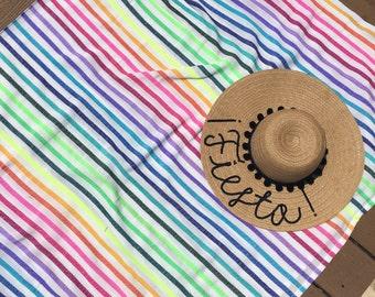 Custom Women's Pom Pom Floppy Sun Hat