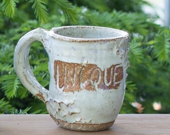 "White ""Unique"" Mug"