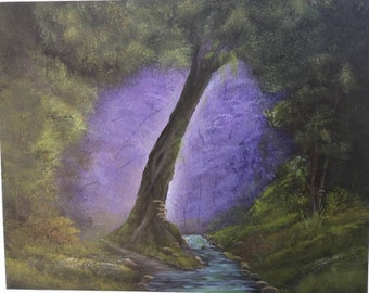 Tranquil Forest Acrylic Painting