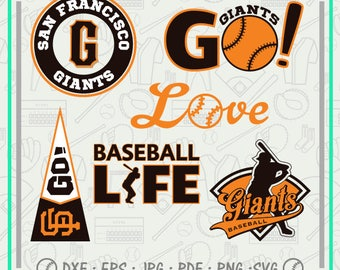 San Francisco Giants Svg Monogram, Baseball Svg Cutting Files Cliparts, Sport Svg, Instant Download, Baseball Clipart, Co-2703
