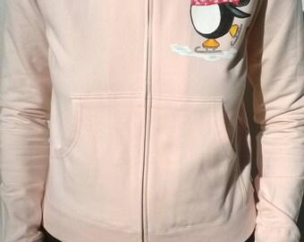 Pink sports hooded jacket, size L