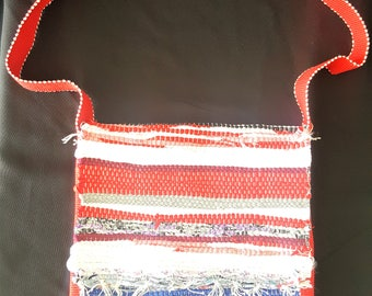 Messenger multicolor bag made of poyvi. Cross Body Purse. Made in Paraguay