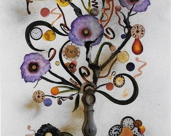 "Decoupage Artwork Original & Handmade - ""THREE TIMES"""