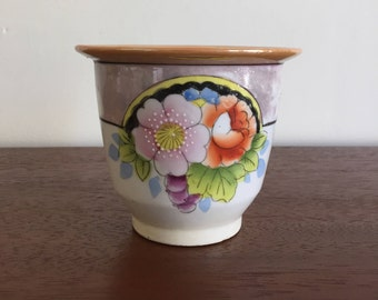 Vintage Japanese Hand Painted Lusterware Planter