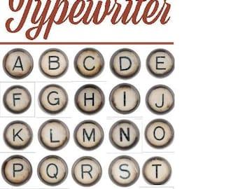 Typewriter Font Buttons