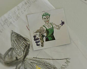Joker magnet, Batman home decor, coffee lover gift, gift under 5