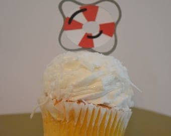 Buoy Cupcake Toppers