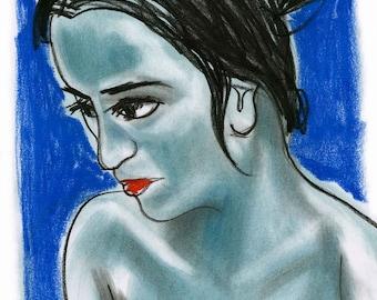 TRINIDAD portrait feminine pastel.